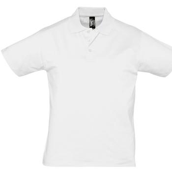 Textil Muži Polo s krátkými rukávy Sols PRESCOTT CASUAL DAY Blanco