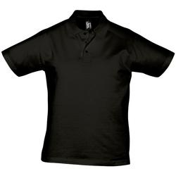 Textil Muži Polo s krátkými rukávy Sols PRESCOTT CASUAL DAY Negro