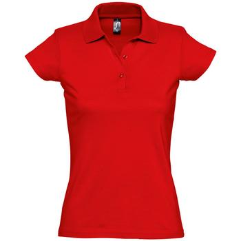 Textil Ženy Polo s krátkými rukávy Sols PRESCOTT CASUAL DAY Rojo