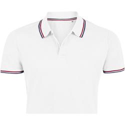 Textil Muži Polo s krátkými rukávy Sols PRESTIGE MODERN MEN Blanco