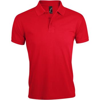Textil Muži Polo s krátkými rukávy Sols PRIME ELEGANT MEN Rojo
