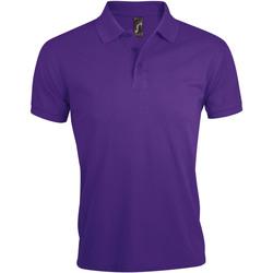 Textil Muži Polo s krátkými rukávy Sols PRIME ELEGANT MEN Violeta