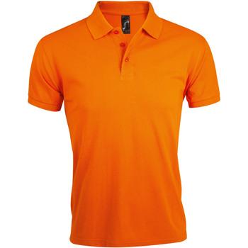 Textil Muži Polo s krátkými rukávy Sols PRIME ELEGANT MEN Naranja
