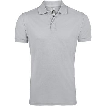 Textil Muži Polo s krátkými rukávy Sols PRIME ELEGANT MEN Gris