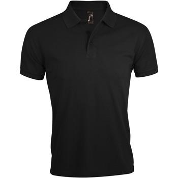 Textil Muži Polo s krátkými rukávy Sols PRIME ELEGANT MEN Negro