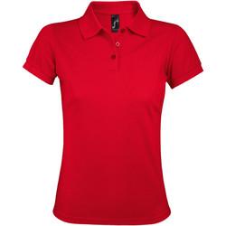 Textil Ženy Polo s krátkými rukávy Sols PRIME ELEGANT WOMEN Rojo