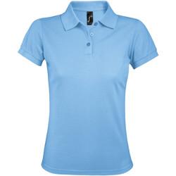 Textil Ženy Polo s krátkými rukávy Sols PRIME ELEGANT WOMEN Azul