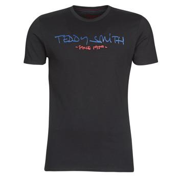 Textil Muži Trička s krátkým rukávem Teddy Smith TICLASS Černá