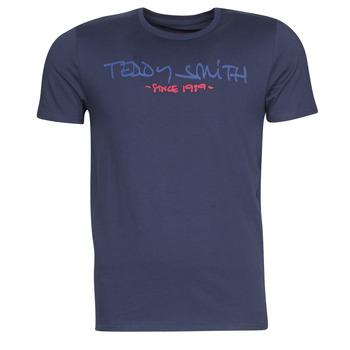 Textil Muži Trička s krátkým rukávem Teddy Smith TICLASS Tmavě modrá