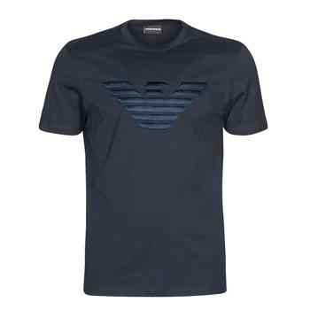 Textil Muži Trička s krátkým rukávem Emporio Armani DOUNIA Tmavě modrá