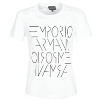 Textil Ženy Trička s krátkým rukávem Emporio Armani  Bílá