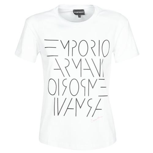 Textil Ženy Trička s krátkým rukávem Emporio Armani DONOVANN Bílá