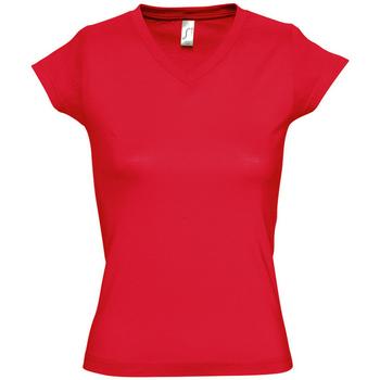Textil Ženy Trička s krátkým rukávem Sols MOON COLORS GIRL Rojo