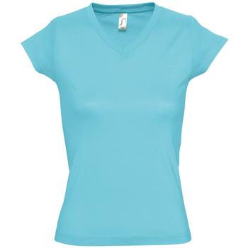 Textil Ženy Trička s krátkým rukávem Sols MOON COLORS GIRL Azul