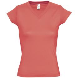 Textil Ženy Trička s krátkým rukávem Sols MOON COLORS GIRL Rosa