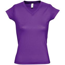 Textil Ženy Trička s krátkým rukávem Sols MOON COLORS GIRL Violeta