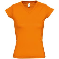 Textil Ženy Trička s krátkým rukávem Sols MOON COLORS GIRL Naranja