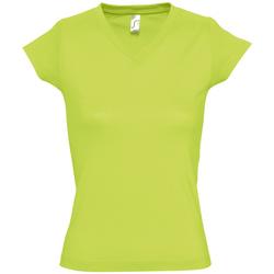 Textil Ženy Trička s krátkým rukávem Sols MOON COLORS GIRL Verde