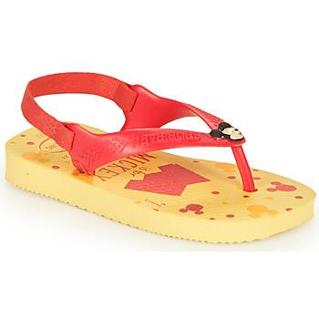 Boty Chlapecké Žabky Havaianas BABY DISNEY CLASSICS II Žlutá / Červená