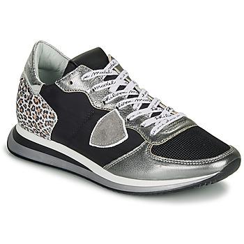 Boty Ženy Nízké tenisky Philippe Model TROPEZ X Černá / Stříbřitá