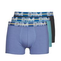 Spodní prádlo  Muži Boxerky DIM BO POWERFUL X3 Modrá / Zelená / Černá