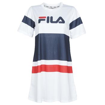 Textil Ženy Krátké šaty Fila BASANTI Bílá / Tmavě modrá / Červená
