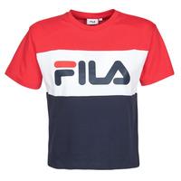Textil Ženy Trička s krátkým rukávem Fila Allison Tmavě modrá / Červená / Bílá