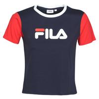 Textil Ženy Trička s krátkým rukávem Fila SALOME Tmavě modrá / Červená