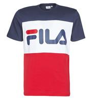 Textil Muži Trička s krátkým rukávem Fila DAY Tmavě modrá / Červená / Bílá