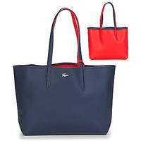 Taška Ženy Velké kabelky / Nákupní tašky Lacoste ANNA Tmavě modrá / Červená