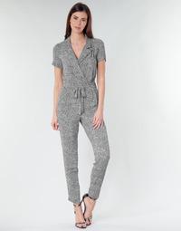 Textil Ženy Overaly / Kalhoty s laclem Ikks BQ32045-03 Černá / Bílá