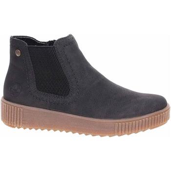Boty Ženy Kotníkové boty Rieker Dámská obuv  Y6463-01 schwarz Černá