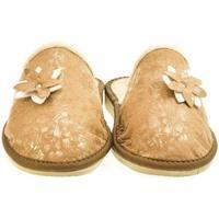 Boty Ženy Papuče John-C Dámske hnedé papuče FLOWE ťavia