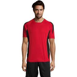 Textil Muži Trička s krátkým rukávem Sols MARACANA 2 SSL SPORT Rojo