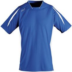 Textil Muži Trička s krátkým rukávem Sols MARACANA 2 SSL SPORT Azul