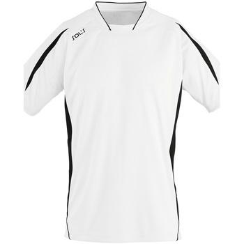 Textil Muži Trička s krátkým rukávem Sols MARACANA 2 SSL SPORT Blanco