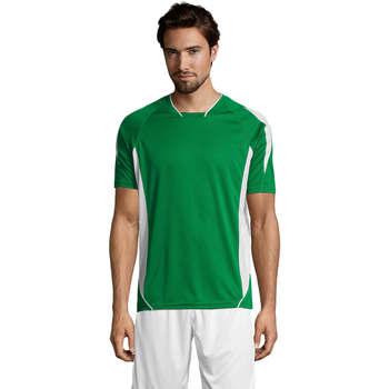 Textil Muži Trička s krátkým rukávem Sols MARACANA 2 SSL SPORT Verde