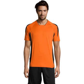 Textil Muži Trička s krátkým rukávem Sols MARACANA 2 SSL SPORT Naranja