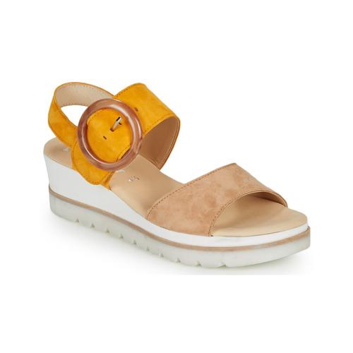 Boty Ženy Sandály Gabor KOKREM Béžová / Žlutá