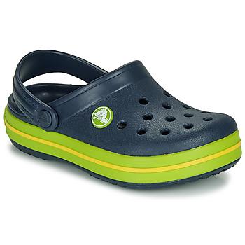 Boty Děti Pantofle Crocs CROCBAND CLOG K Tmavě modrá / Zelená