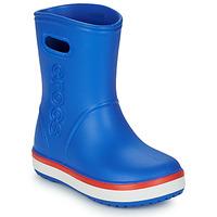 Boty Děti Holínky Crocs CROCBAND RAIN BOOT K Modrá / Červená