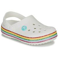 Boty Dívčí Pantofle Crocs CROCBAND RAINBOW GLITTER CLG K Bílá
