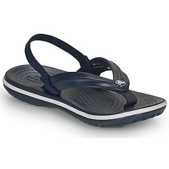 Boty Děti Žabky Crocs CROCBAND STRAP FLIP K Tmavě modrá