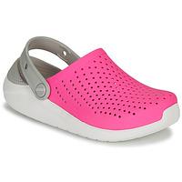 Boty Dívčí Pantofle Crocs LITERIDE CLOG K Růžová / Bílá