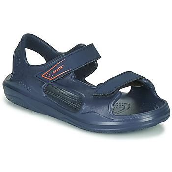 Boty Děti Sportovní sandály Crocs SWIFTWATER EXPEDITION SANDAL K Tmavě modrá