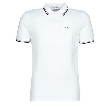 Textil Muži Polo s krátkými rukávy Ben Sherman SIGNATURE POLO Bílá / Černá