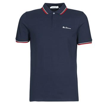 Textil Muži Polo s krátkými rukávy Ben Sherman SIGNATURE POLO Tmavě modrá / Červená / Bílá