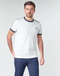 Textil Muži Trička s krátkým rukávem Fred Perry TAPED RINGER T-SHIRT Bílá