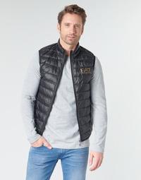 Textil Muži Prošívané bundy Emporio Armani EA7 CORE ID 8NPQ02 Černá / Zlatá