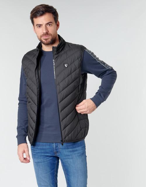 Textil Muži Prošívané bundy Emporio Armani EA7 TRAIN CORE SHIELD M DOWN LIGHT VEST Černá